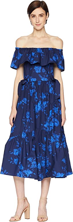 Kate Spade New York Hibiscus Off Shoulder Dress