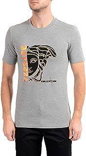 Collection Men's Gray Graphic Crewneck T-Shirt Sz US M IT 50