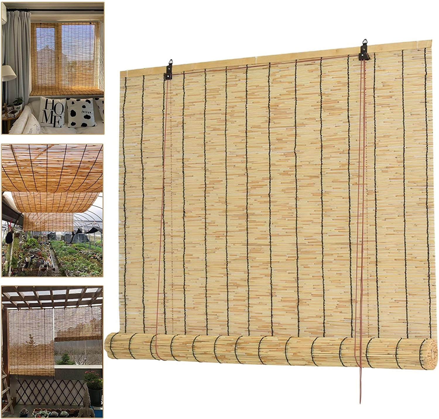 Natural Reed Curtain Ranking TOP16 Retro Straw Woven Shutters Bl Roller Bamboo List price