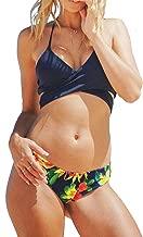 CUPSHE Women's Fresh Leaves Printing Cross Bikini Set