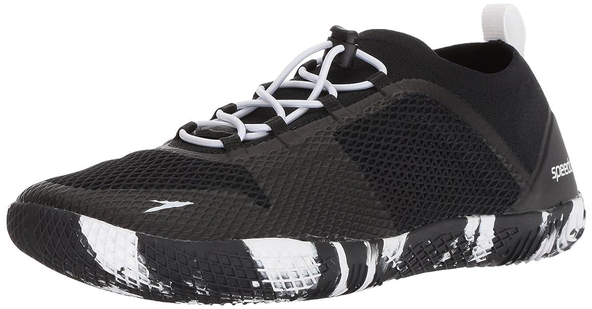 Speedo Men's Fathom AQ Fitness Water Shoes, Black/White, 12 US