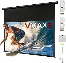 "Elite Screens VMAX2, 150-inch 16:9, 24"" Drop, Electric Motorized Drop Down HD Projection Projector Screen, VMAX150UWH2-E24"