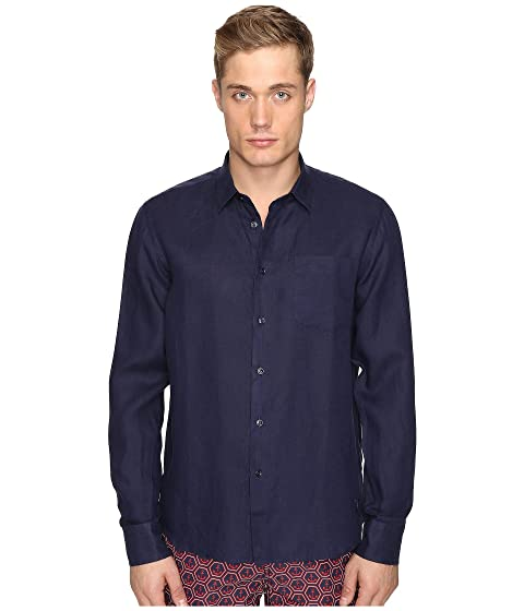 Vilebrequin Linen Long Sleeve Button Up