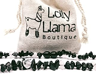 Unisex Certified Genuine Baltic Amber Chip Bead by Lolly Llama Raw Baroque Baltic Amber Teething Necklace for Baby Boy Dark Cherry 11 Inch Drooling /& Teething Pain Relief