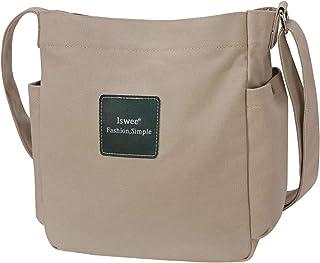 Iswee Women's Canvas Shoulder Bag Small Hobo Purse and Handbag Crossbody Bag Messenger Bags