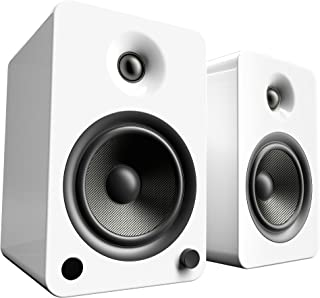Kanto YU6 Powered Bookshelf Speakers with Bluetooth® and Phono Preamp (Gloss White)
