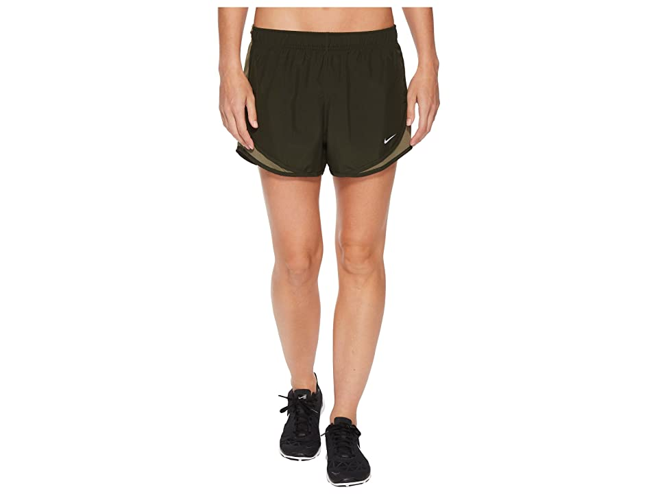 Nike Dry Tempo Short (Sequoia/Medium Olive/Sequoia/Wolf Grey) Women