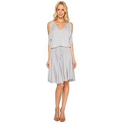Three Dots Cold Shoulder Dress (Grey) Women