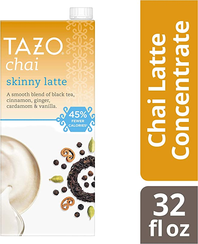 Tazo Skinny Chai Latte Concentrate Black Tea 32 Oz