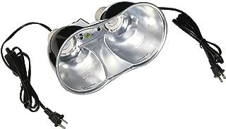 Zoo Med Combo Mini Deep Dome Clamp Lamp Fixture 2 x 5-1/2 Inch Deep Domes