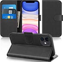 Supveco iPhone 11 6.1 Inch Wallet Case with Credit Card Holder, Premium PU Leather with RFID Blocking, Shockproof with Kic...