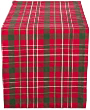 "DII Tartan Holy Plaid 100% Cotton Table Runner, Machine Washable for Holiday Gatherings, Dinner Parties, Christmas (14x72"")"