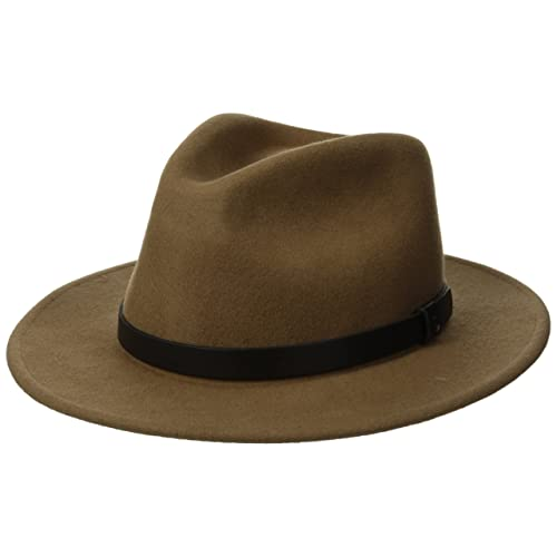 49caedd7be572 Brixton Men s Messer Medium Brim Felt Fedora Hat
