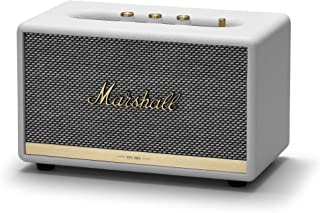 Marshall Acton II Bluetooth Speaker, The Small But Mighty Wireless Speaker, with Larger Than Life Customisable Sound, White