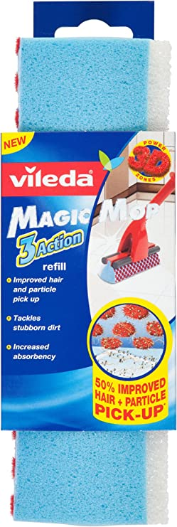 Details about Vileda Magic Mop Flat Red Including Refill Options ...