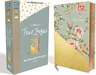 NIV, True Images Bible, Leathersoft, Teal/Gold: The Bible for Teen Girls