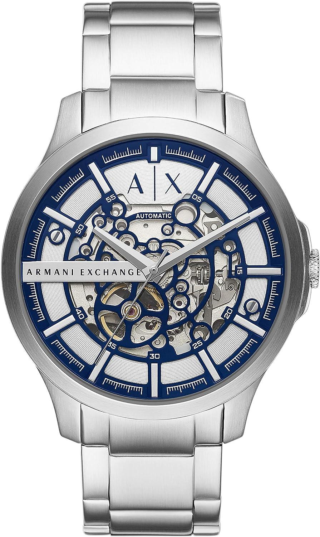 Armani Exchange Reloj Analógico para de los Hombres de Cuarzo con Correa en Acero Inoxidable AX2416