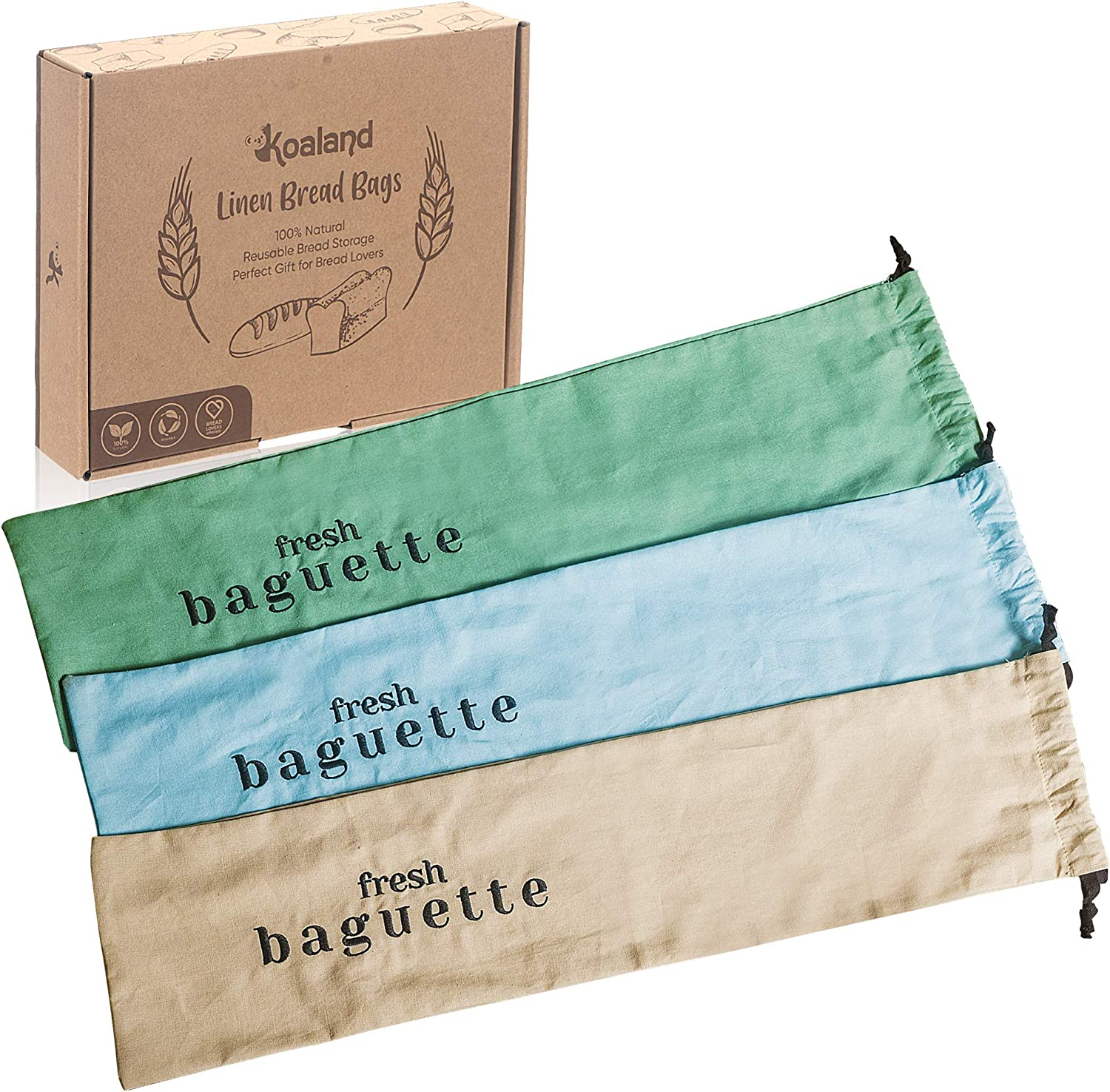 Linen Bread Bags for Free Shipping New French Baguette Max 80% OFF Color