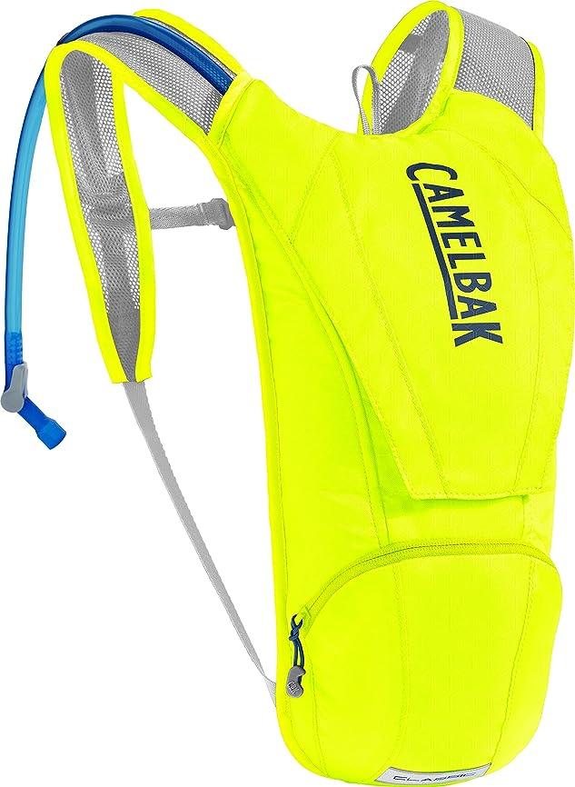 請願者の間で病者CAMELBAK(キャメルバック) CLASSIC クラシック ハイドレーションバッグ 自転車用バックパック 軽量 リザーバータンク付き 2.5L(850oz) セーフティーイエロー/ネイビー 18891083
