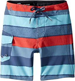 Volcom Kids Magnetic Liney Mod Boardshorts (Toddler/Little Kids)