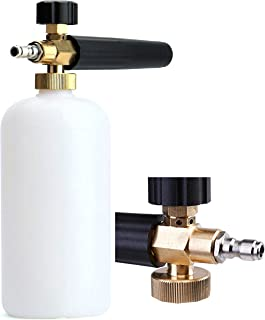 Tikteck Car Wash Gun Pressure Washer Cannon with 1L soap Bottle Foam Lance Ideal for Pressure Snow Foam Wash, Foam Cannon Foam Blaster with 1/4