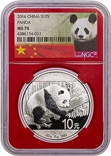 2016 Chinese Panda 10 Yuan MS70 NGC