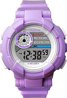 Kids Watch Girls Boys Digital Sports 7-Color Flashing...