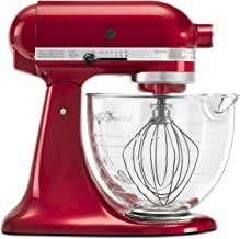 KitchenAid KSM155GBCA 5-Qt. Artisan Design Series with Glass Bowl – Candy Apple Red