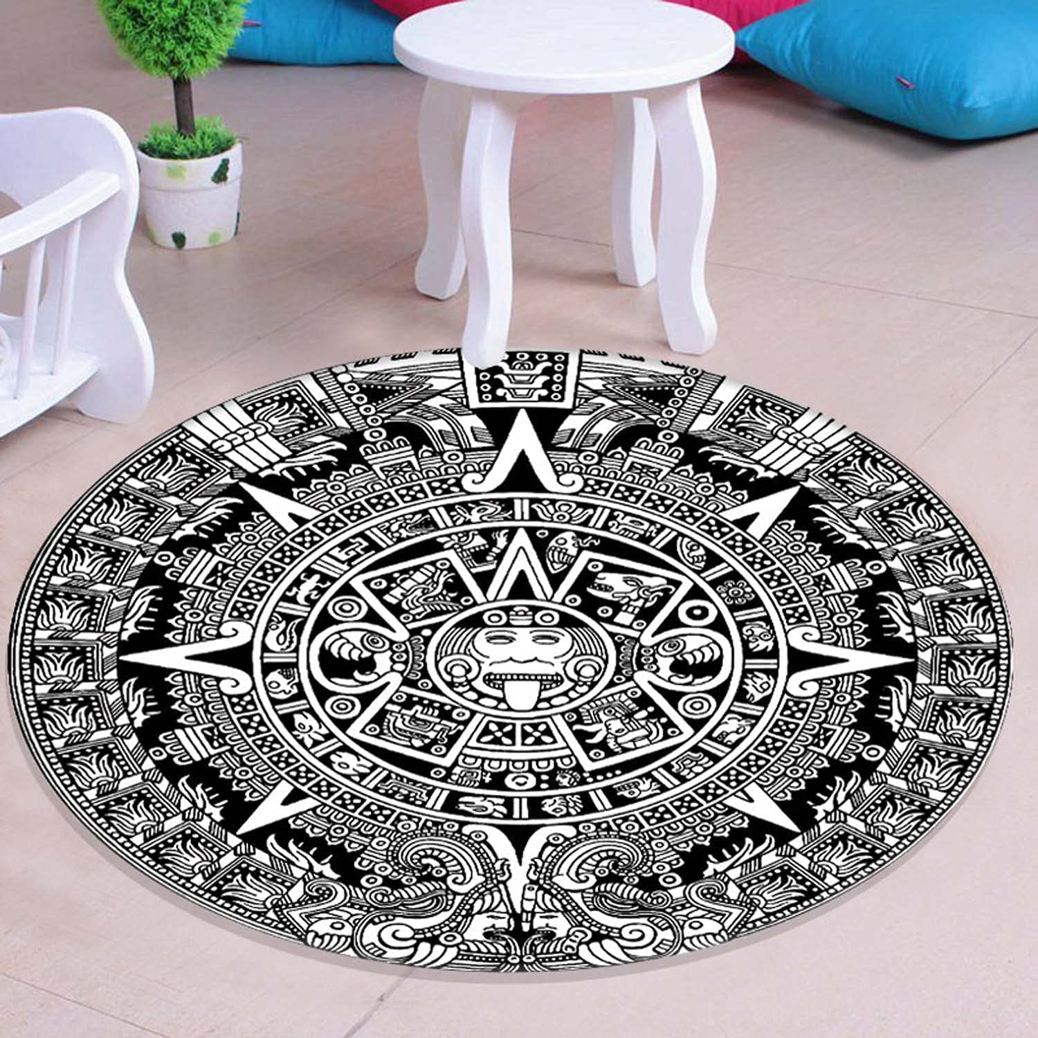 Special price Round Mat Thick 63 x Inch Anti Floor Outlet ☆ Free Shipping Hardwood Cha Gaming Slip