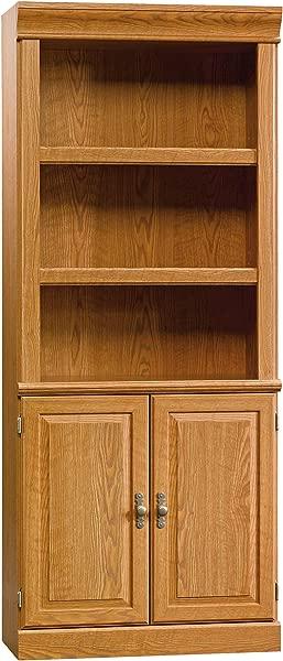 Sauder 402173 Orchard Hills Library With Doors L 29 45 X W 13 47 X H 71 50 Carolina Oak Finish