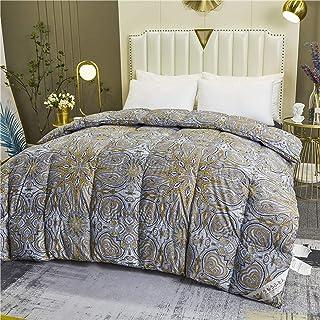 Duvet, Bedding Comforters, Fluffy Comforter Goose Down Comforter Queen Size Duvet Insert, Luxury All Season 100% Natural C...