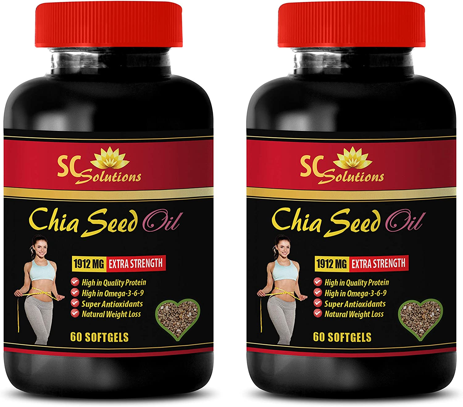 Hair Skin and Nails Max 49% OFF - CHIA Oil Chia Seed Bottles Pill 2 Popular standard
