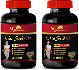 Weight Loss Vitamins - CHIA Seed Oil - Chia Oil Soft Gel - 2 Bottles 120 Softgels