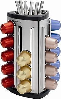 Brabantia 040552321 - Dispensador de cápsulas de café Nespresso, Color Gris Metalizado
