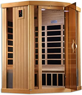 Golden Designs AMZ-GDI-6365-01 Ultra Low EMF Ferrara 3-Person Corner Far Infrared Sauna