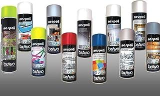 Rugoplast - Esmalte en Spray para Pintar Hierros/Rejas/Portones/Puertas/Ventanas/Madera, Varios Modelos, Blanco Mate Ral 9010, 400 ml