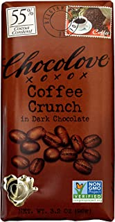 CHOCOLOVE Coffee Crunch in Dark Chocolate (master case) 12-12-3.2 Ounce only available between October and March