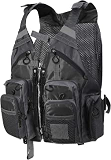 Pellor Multi-Pocket Breathable Mesh Fishing Vest Fishing Gear Waistcoat for Outdoor Camping Hunting Photography