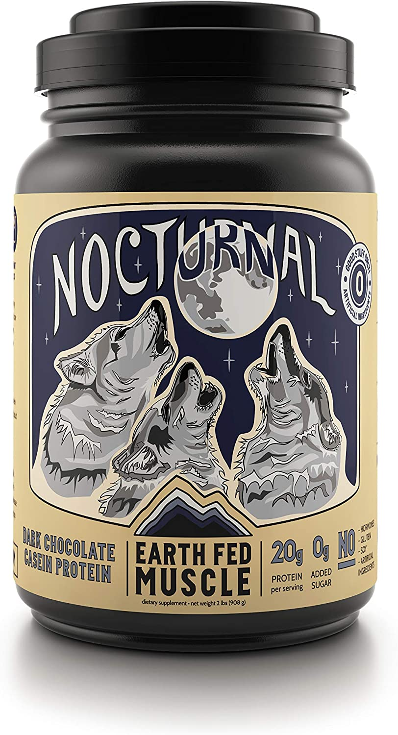 Earth Fed Choice Muscle Nocturnal Casein Slow Genuine Micellar Case Digesting
