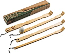 BambooWorx 4 Piece Traditional Back Scratcher and Body Relaxation Massager Set for..