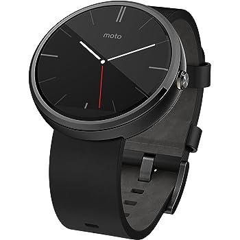Motorola Moto 360 Modern Timepiece Smart Watch - Black Leather 00418NARTL
