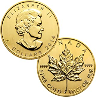 1/10 Ounce Canadian Gold Maple Leaf $5 Brilliant Uncirculated