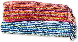 comprar comparacion Secaneta Pack 2 Toallas Playa con Flecos de 100x170 cm, Tejido Algodón 100%, Mikonos, Multicolor, 100 x 170 cm