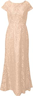 TalinaDress Women Long Lace Cap Sleeves Mother of The Bride Dresses Formal Gown E210LF