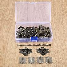 Nologo SSB-DAKOU, decoratief slot, brons, 12 stuks, antieke grendel, gesp, van hout, sieradendoos + padlock-kasten + schro...