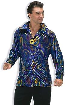 Forum Novelties Men's 70's Disco Dynamite Dude Costume Shirt