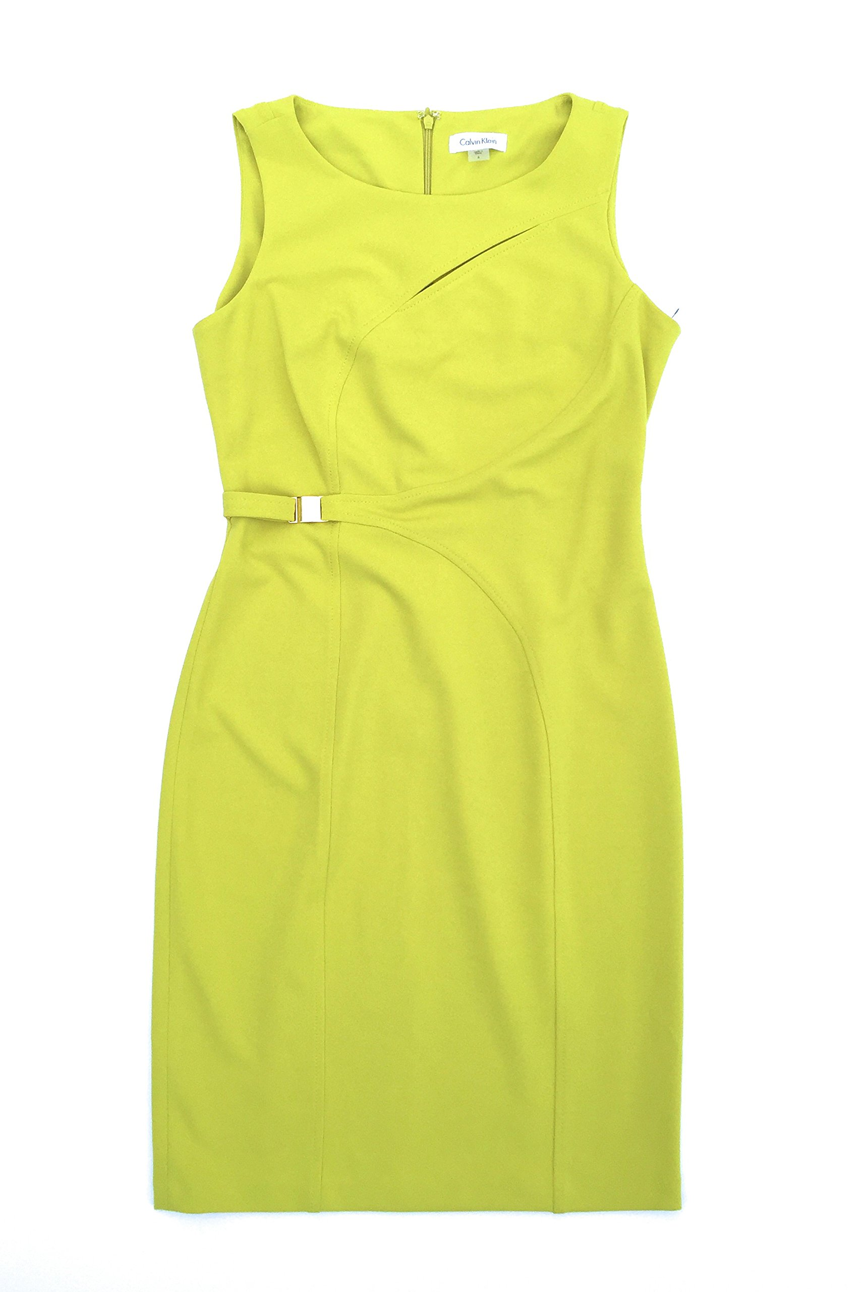 Available at Amazon: Calvin Klein Women's Sleeveless Sheath Dress Size 6 Green