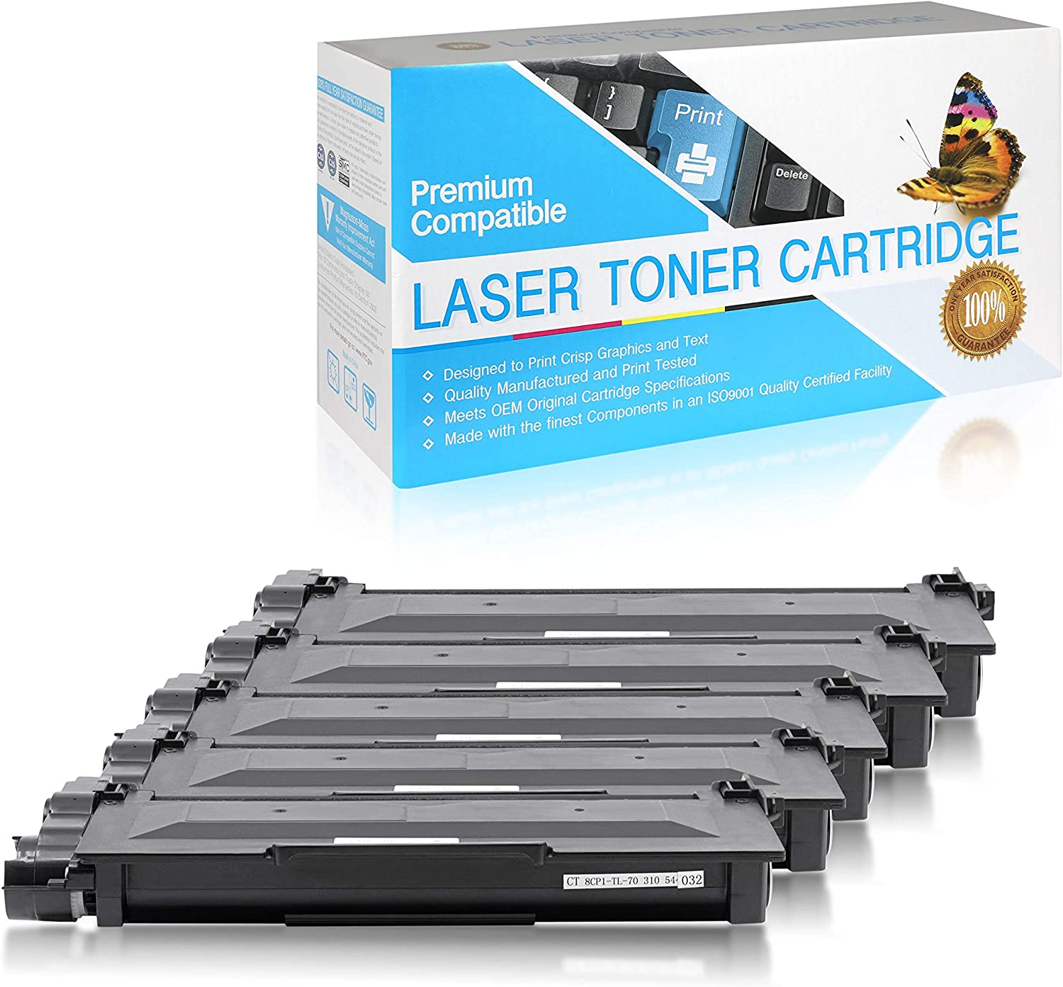USA Advantage Compatible Toner Cartridge Replacement for Dell 593-BBKD PVTHG P7RMX Black,2 Pack
