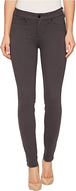 Madonna Five-Pocket Leggings in Silky Soft Ponte Knit in Grey Armor