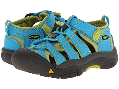 Keen Kids Newport H2 (Toddler/Little Kid) (Hawaiian Blue/Green Glow) Kids Shoes